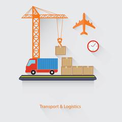 Transport and Logistics concept,vector