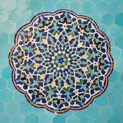 tile panel in mosque