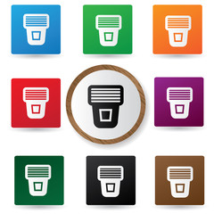 Flash buttons,vector