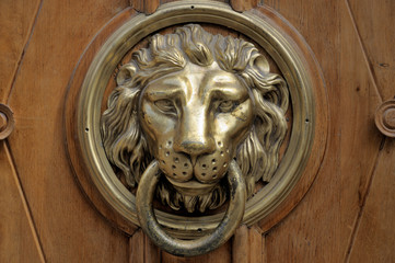 .The lion. Door knocker.