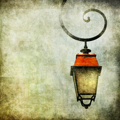 vintage background with lantern