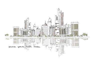 United Arab Emirates background, sketch collection