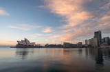 Fototapety Sunrise at Opera house landmark of Sydney, Australia