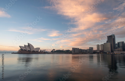 Poster Sunrise at Opera house landmark of Sydney, Australia
