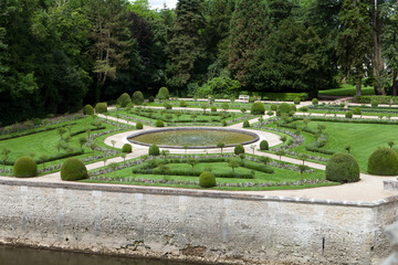 Gardens at Chateau Chenonceau in the Loire Valley