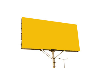 Yellow blank billboard