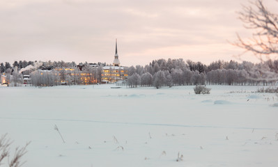 Winter landscape in Finland