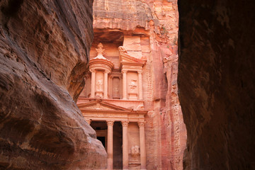 Petra at the gorge entrance, Jordan