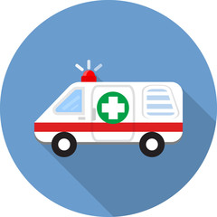 Vector ambulance car icons