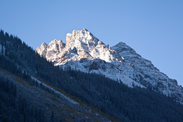 View to Maroon Bells in autumn