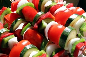 Brochettes de légumes ' bio '