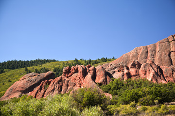 Sandstone formation in Roxborough State Park near Denver