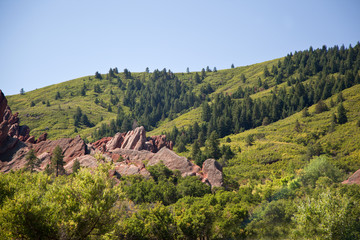 Mountains in Roxborough State Park near Denver