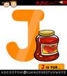 letter j with jam cartoon illustration