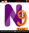 letter n with nine cartoon illustration