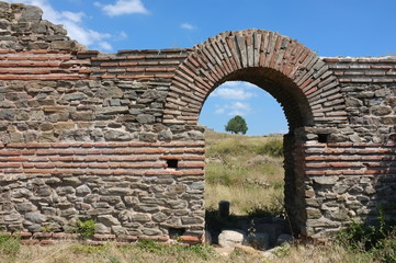 Ruins Iustiniana Prima in Serbia