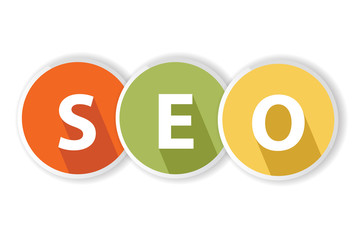 SEO on white background,vector
