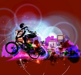 Biker. Vector