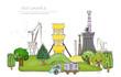 Harvest time, food industry illustration, Happy world colection