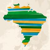 Fototapety Abstract Brazil map