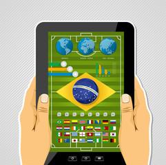 Brazil soccer championship tablet infographic