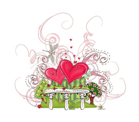 Happy valentine background, Love