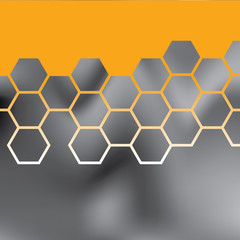 Abstract orange grid background