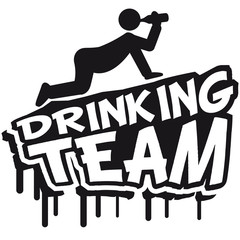 Drinking Team Cartoon Comic Graffiti