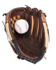 Baseball Glove with Baseball