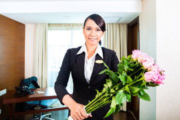 Hotel Manager welcoming guest