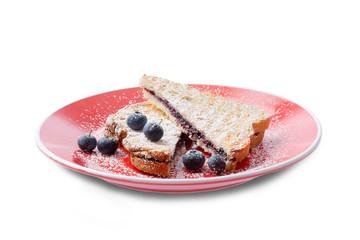 Tasty Italian blueberry panini