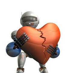 Robot heart is damaged
