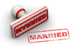 Married. Seal and imprint