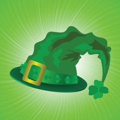 green hat in saint Patrick Day