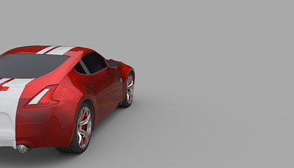 A CG render of a generic luxury recing car