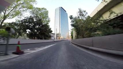 Twilight drive of Tokyo Bay Area