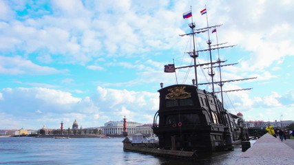 Sailing Ship. St. Petersburg. Russia