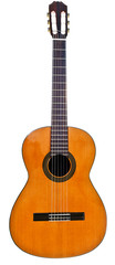 full view of classical acoustic guitar