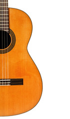 half of classical acoustic guita