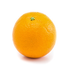 Orange fruit isolated on white background with clipping path