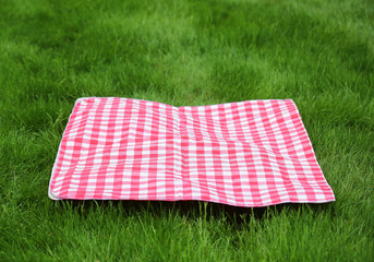 Picnic  Retro Tablecloth on Green Grass