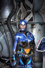 Futuristic police girl