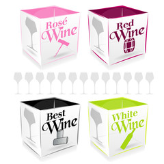4 cube wine