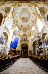 interior of pilgrimage church, Wambierzyce, Poland