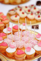 Pink pop cakes and cupcakes