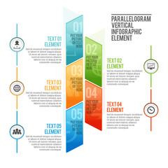 Parallelogram Vertical Infographic Element