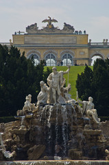 Neptune fountain at Schenbrunn park and palace in Vienna