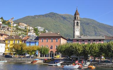 Ascona, See, Lago Maggiore, Altstadt, Herbst, Tessin, Schweiz