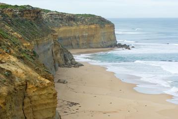 Beach and cliffs shipwreck coast