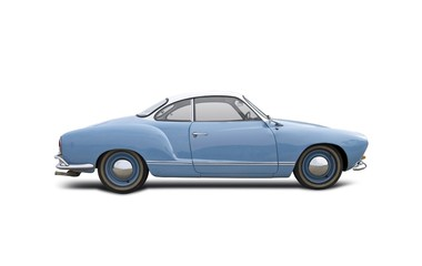VW Karmann Ghia isolated on white